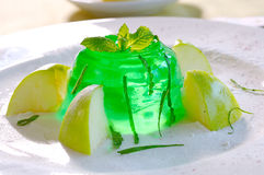 Green apple jelly Stock Photography