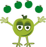 Green Apple juggler Royalty Free Stock Image