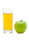 Green apple with juice Stock Photography