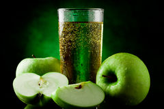 Green Apple Juice Royalty Free Stock Images