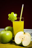 Green apple juice Royalty Free Stock Photography
