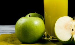 Green apple juice Stock Photography