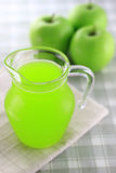 Green apple juice Stock Image