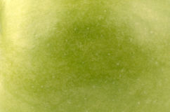 Green apple. Juicy apple as background closeup Stock Image