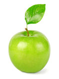 Green apple with leaf Royalty Free Stock Image