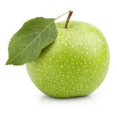 Green apple with leaf isolated on a white Stock Photo
