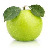Green apple with leaf isolated on a white Stock Photography
