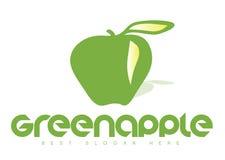 Green Apple Logo. Vector logo template of a green apple Stock Photo