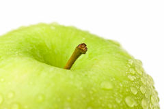 Green apple macro Stock Photography