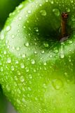 Green apple macro in selective focus Royalty Free Stock Photography