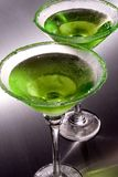 Green Apple Martini's Stock Photo