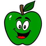 Green Apple Mascot Stock Image