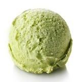 Green apple and mint ice cream ball royalty free stock photography