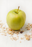 Green apple and muesli Stock Photo
