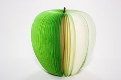 Green apple note. Stock Photo