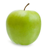 Green apple  over white with path Royalty Free Stock Photos