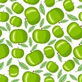 Green apple pattern seamless Royalty Free Stock Image