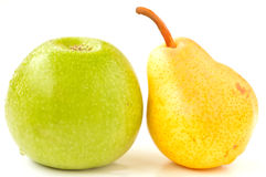 Green apple and pear Royalty Free Stock Photos