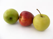 Green apple pictures series for fruit juice packaging 2 Royalty Free Stock Photos