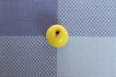 Green apple. On a placemat, background Stock Photos