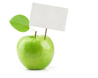 Green Apple with price tag Royalty Free Stock Photo