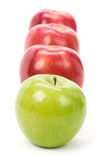 Green Apple red apple Royalty Free Stock Photography