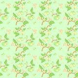 Green apple seamless pattern Royalty Free Stock Photos