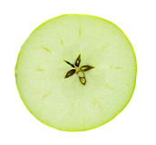 Green apple slice Stock Photos