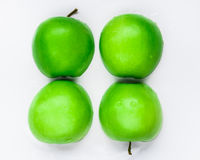 Green apple. Slice green apple in white background Stock Photography