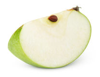 Green apple slice on white Royalty Free Stock Image