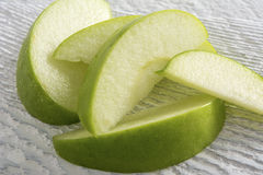 Green Apple Slices Royalty Free Stock Image