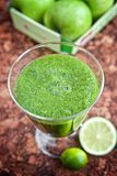 Green apple and spinach smoothie Royalty Free Stock Images