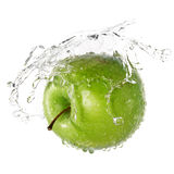 Green apple splash Royalty Free Stock Image