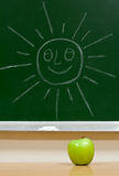 Green apple and sun Royalty Free Stock Photo