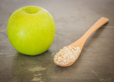 Green apple on the table Stock Image