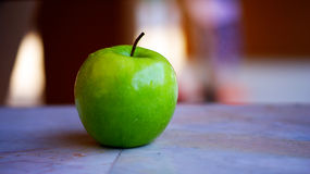 Green apple. The green apple is taked photo by close up portrial royalty free stock photo