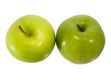 Green Apple. Two Green Apple isolated on a white background stock photo