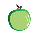 Green apple vector art illustration Royalty Free Stock Photography