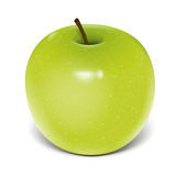 Green apple vector Royalty Free Stock Images