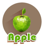 Green apple vector icons of triangles Royalty Free Stock Images