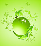 Green apple, vector illustration Stock Images