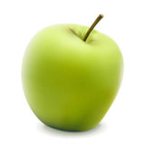 Green apple. Vector illustration of green apple  on white. EPS10 Royalty Free Stock Image