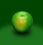 Green apple. Vector image of a green apple Royalty Free Stock Image