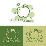 Green apple - vector logo. Stock Image