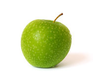 Green apple on white stock image