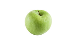 Green apple on the white background. Green apple isolated on the white background Royalty Free Stock Image