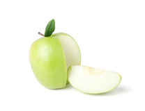 Green apple on a white background Royalty Free Stock Photos