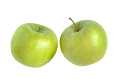 Green apple, in white background Royalty Free Stock Images