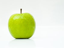 Green apple  on white background Royalty Free Stock Image