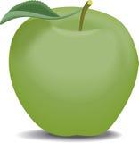 Green apple. On a white background Stock Photos